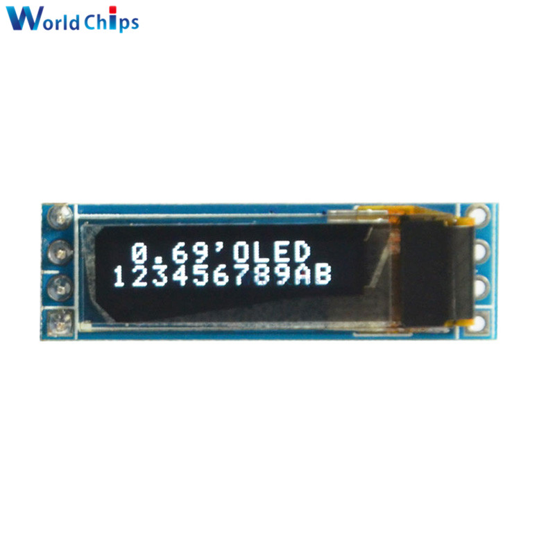 0.69 Inch 96x16 OLED Display Module White Display 0.69