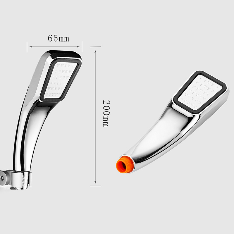 Quality 300 Hole Bathroom Faucet Boost Shower Head Water Saving Flow Chrome ABS Shower Head High Pressure Bathroom Rainfall