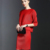 2016 Del Verano Nuevas Mujeres Europeas y Americanas de Las Señoras Determinadas Temperamento Delgado Pliegues Del Vestido Sólido de Dos Piezas Falda Equipada ST096