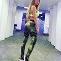 Mulheres Calças de Camuflagem Calças Elásticas Militares Leggings Empurrar Para Cima As Mulheres Capri Treino Do Exército Jeggings Magros Pantalones Mujer