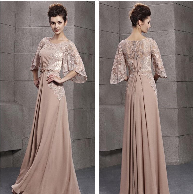 2015 New Arrvial Zuhair Murad Arabic Evening Dresses Lace Champagne ...