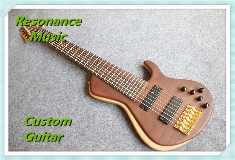 Custom Design China Electric Fodera Bass Guitar 7 Strings Flame Maple Top Chinese Ash Body Back