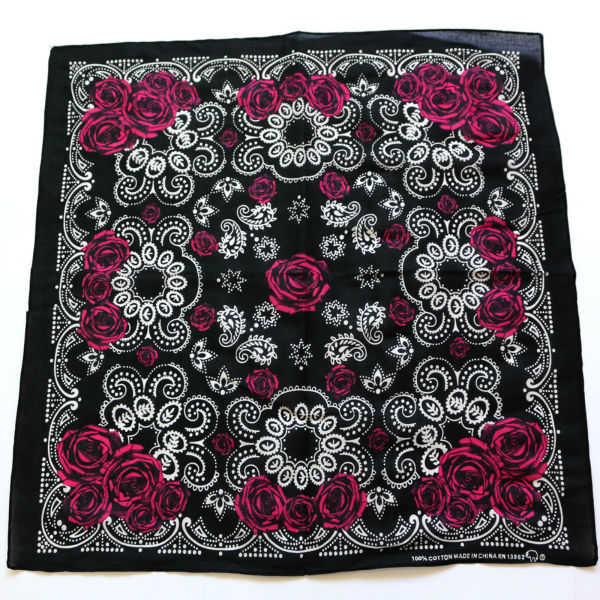 Cotton Black Paisley Rose Bandanas Men Pocket Square Black Red White Ladies  Headband Women Headscarf Handkerchief SUJASANMY f782eaeb88b