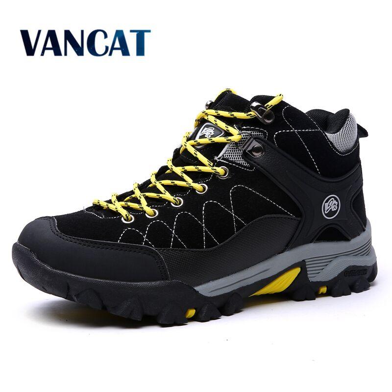 Vancat New Winter Fur Men Boots 2018 Warm Snow Boots Men Winter Boots Work Shoes Men Footwear Fashion Rubber Ankle Shoes 39-45