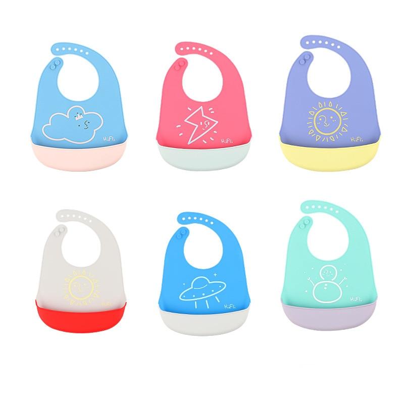 1PC Cartoon Waterproof Aprons Baby Bibs Burp Cloths Feeding Baby Saliva Towel