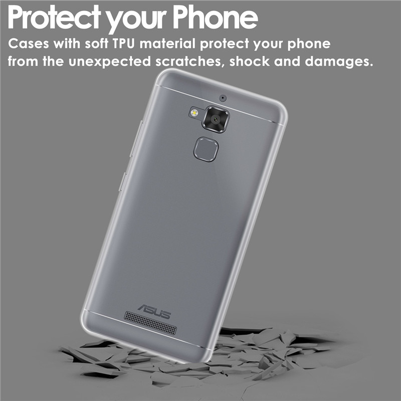 Qosea For Asus Zenfone 3 Max ZC5TL Phone Case Transparent Silicone Ultra-thin Soft TPU For Zenfone 3 ZC5TL Protective Cover 6