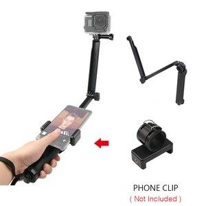 Image 4 - 3 דרך גריפ עמיד למים חדרגל Selfie מקל חצובה Stand עבור GoPro גיבור 7 6 5 4 מושב יי 4K Sjcam Eken Pro עבור אבזר