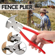 10'' Fence Pliers Parallel Jaws Soft Grip For Wire Cutters Fencing Hammer Tool CR-V' Steel Multi Purpose Professional Tools