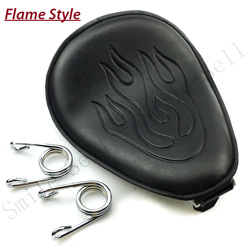 Motorcycle Spring leather solo Flame seat Bracket For Harley Sportster Chopper Bobber Suzuki Honda Yamaha motorcycle 22 bobber cafe oldschool chopper