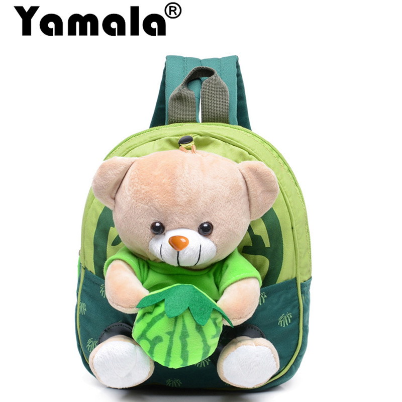 [Yamala] Baby Food bag Storage Box Zoo Snack Bags Portable plush Bag Children Packing Food Picnic Bags Schoolbags For Baby