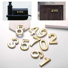 10 packs of mailbox number 0-9, 2 inches high, the number can be freely matched, address number sticker apartment office family number 11