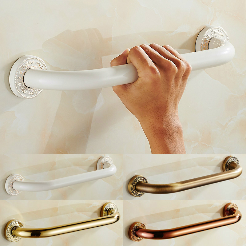 Permalink to European Gold Polished Ivory White Arm Rest Safety Handle Solid Brass Grab Bar Toilet Seat Wall Mount Bathroom Accessories gr01