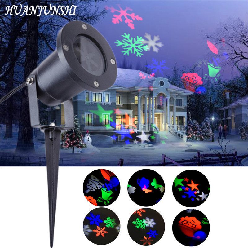 Laser Projector Lamp LED Stage Light Heart Snow Butterfly Star Christmas Party Garden Lawn Lamp Projection Lamp Outdoor Lighting