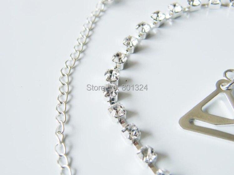 New Sexy Women's Ladies Adjustable Crystal Diamante Rhinestone Bra Shoulder Straps Nice 1 Pair 7