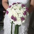 2016 Moda Romántica Decoración de La Boda Flores Ramos de Novia Ramo de Novia de La Boda Accesorios de La Boda del Buque de noiva