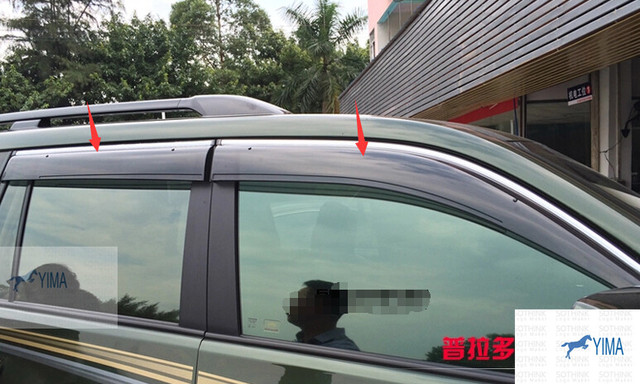 For TOYOTA PRADO FJ150 2011-2014 Window Visors Awnings Wind Rain Deflector Visor Guard Vent