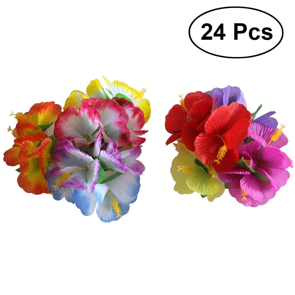 Hawaiian Wedding Hairstyles: 24pcs Hawaiian Flowers Hair Clips Bridal Barrette Tropical