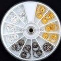 24 шт., круглые колпачки-кольца для маникюра, 3 цвета