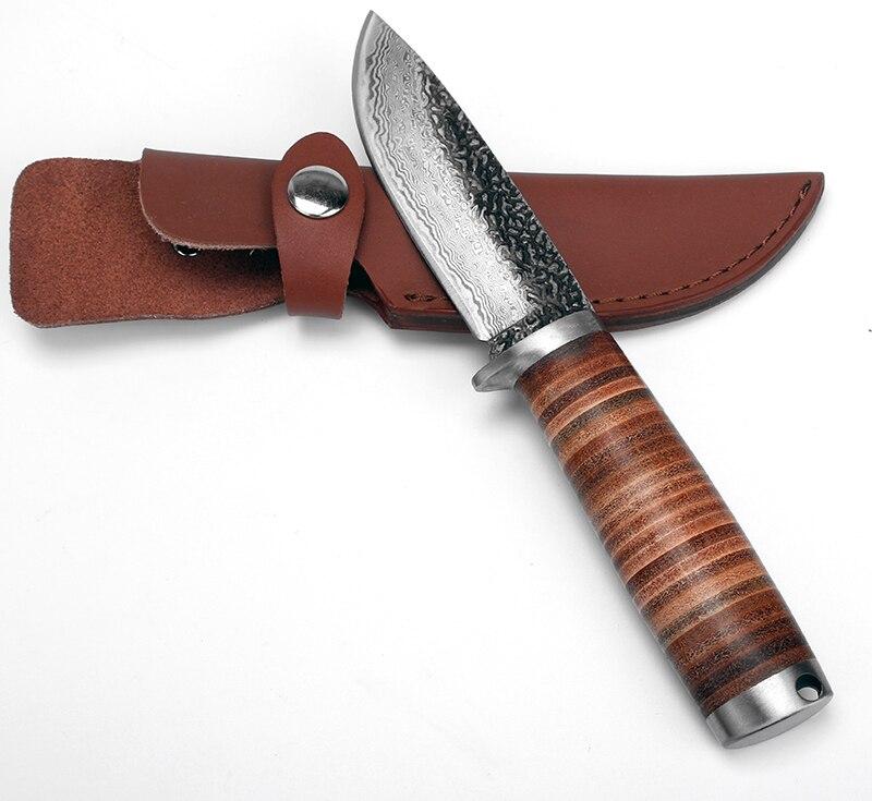 KKWOLF Coltello da caccia a lama fissa Coltello da campeggio forgiato - Utensili manuali - Fotografia 6