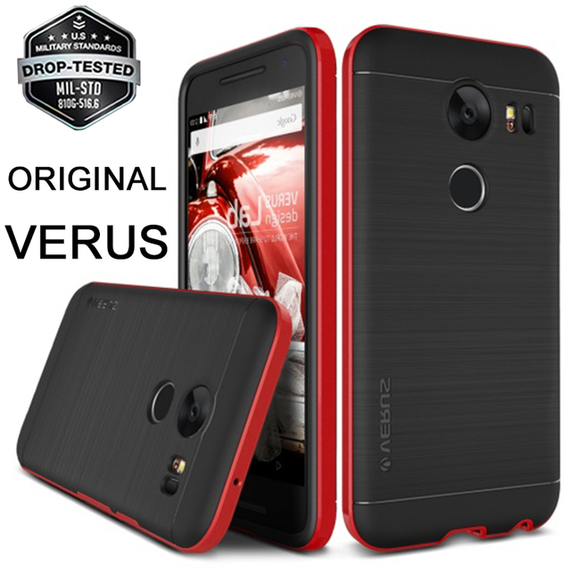 sale retailer 54a2e 4aba0 US $22.99 |FUNSO Verus For Google LG Nexus 5X Case High Pro Shield Dual  Layer Hybrid Hard Frame Brushed Metal Back Cover Cases for Nexus 5X-in ...