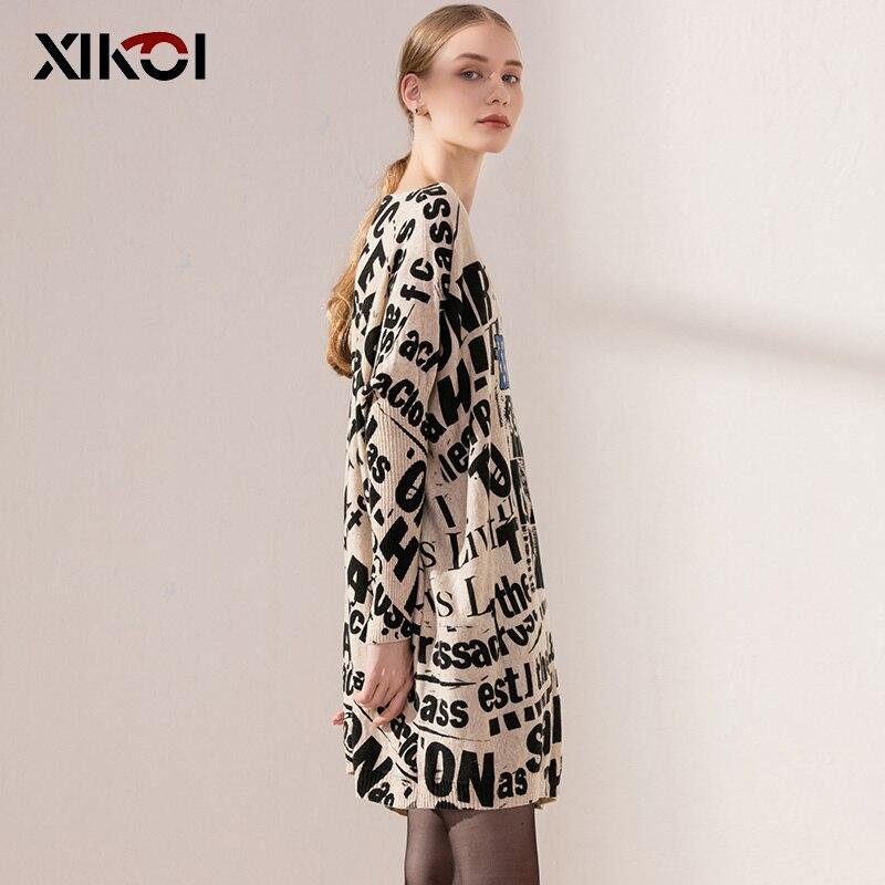 XIKOI Casual Lange Oversize Frauen Pullover Flügelhülse Schwarz - Damenbekleidung - Foto 2