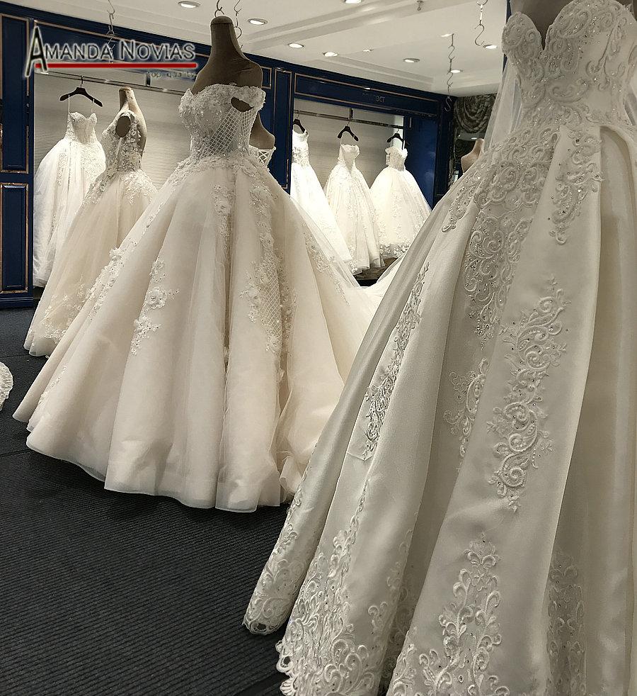 Wedding Dress Ball Gown Style: Luxury Arabic Style Wedding Dress Puffy Ball Gown Real