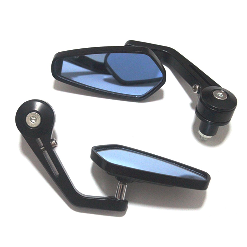 1 Pair 7/8 22mm Handlebar Rotatable Diamond Shape Motorcycle Bar End Rearview Side Mirror Modified Bend Rod Universal Scooter