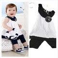 Princesa del bebé superior + Pant 2 unids trajes ropa de la flor del bebé 0-3 años
