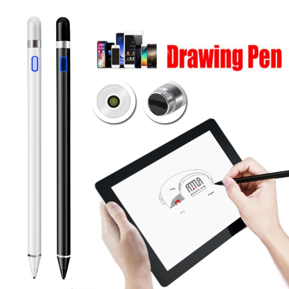 Rechargeable Capacitive Active Screen Stylus Pen Drawing Pen Fit For iPad Tablet active pen capacitive touch screen for teclast tbook 10s t10 p80h 98 octa x10 x98 hp elite x2 g1 g2 tablet stylus pen nib1 4mm