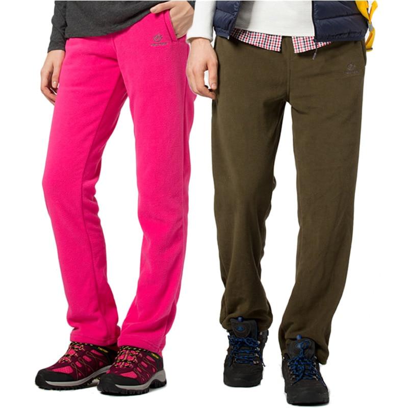 Tectop Brand Men Women Warm Tech Fleece Pants Spring Winter Camping Travel Trousers Outdoor Trekking Ski Hiking Pants,AM057