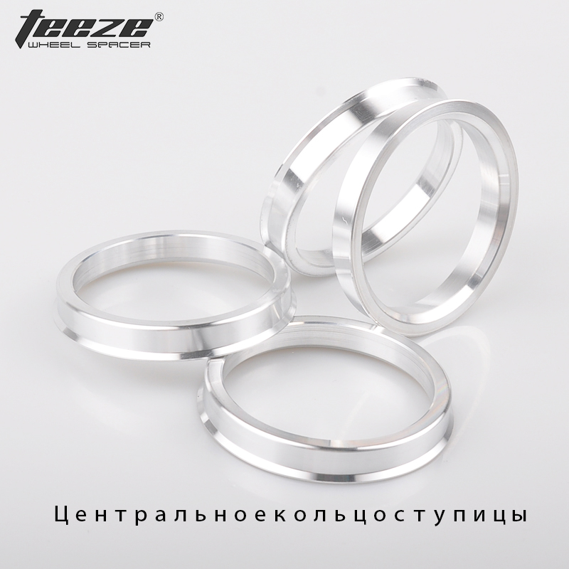 4Pieces/set Aluminum wheel center hub rings OD 74.1 to ID 65.1 car accessories spigot centric rings free shipping