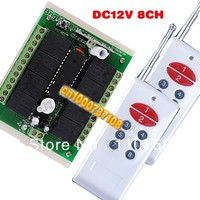 DC12V 8 channel rf radio switch wireless transmitter and the receiver led rf controller and wifi wireless intelligent remote