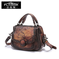 Genuine Leather Bags Women Handbag 2018 New Style Shoulder Bags Natural Leather Crossbody Bag Saddle Messenger Bags