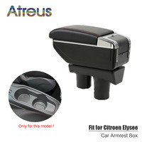 For Citroen C Elysee Peugeot 301 12 16 armrest box USB Charging interface heighten central Store content box cup holder ashtray