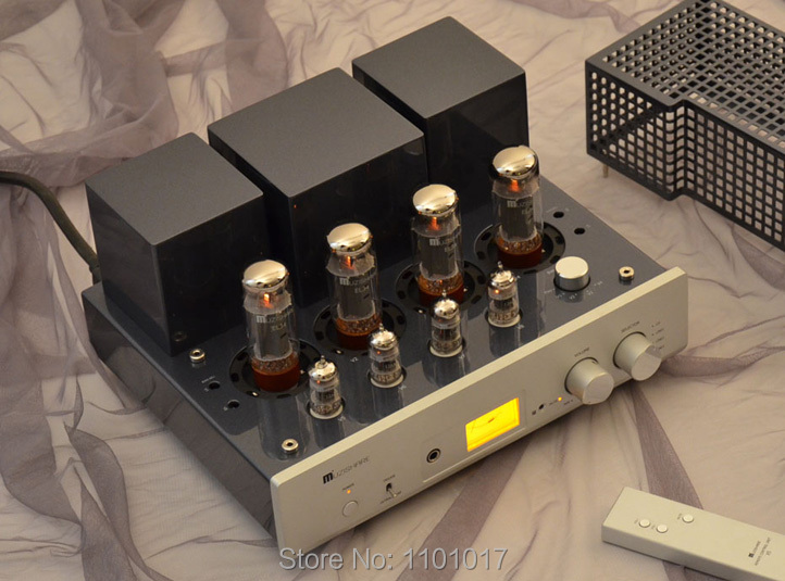 Muzishare X5 Push-Pull amplificador de tubo HiFi exquis andamio hecho a mano lámpara integrada AMP MZSX5