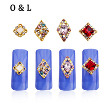 10pcs Glitter Colorful Crystal Gems Nail Decorations Rhinestones DIY Tools for 3d Charms Alloy Nail Art