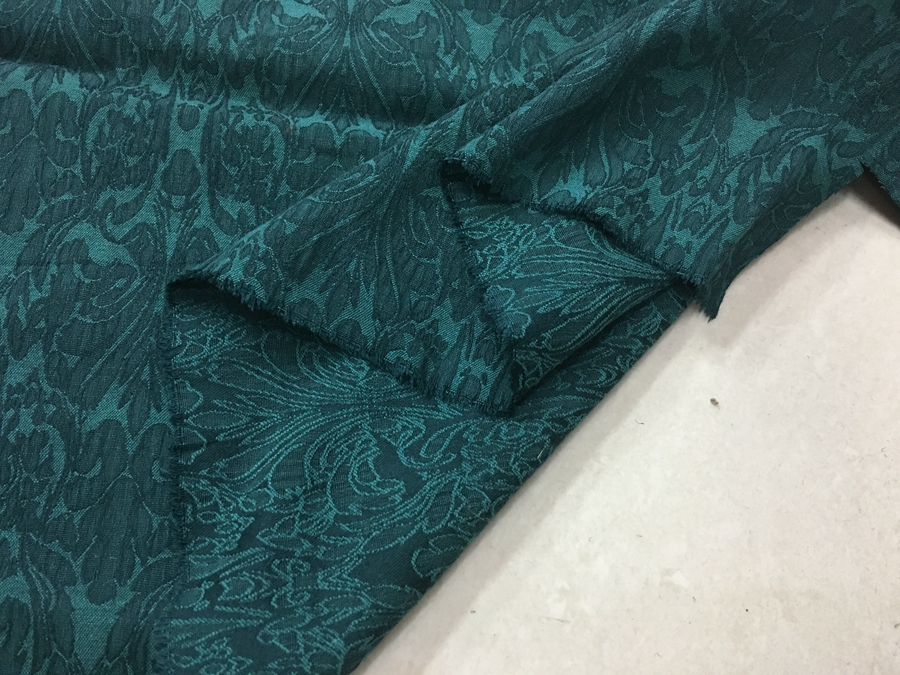 Spring and autumn dark green double sided three dimensional jacquard cotton fashion fabric price for 1 meter
