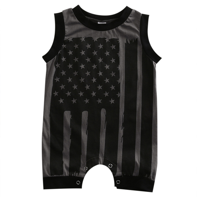 243c07023 Summer Newborn Infant Baby Boy Girl Rompers 4th Of July Stars ...