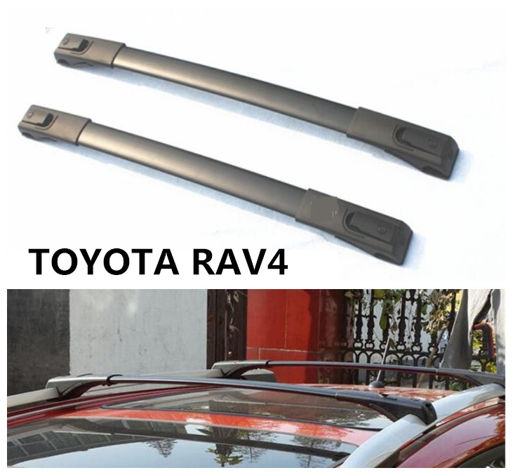 Roof Racks Cross luggage Rack bar For TOYOTA RAV4 2013 2014 2015 2016 2017 2018 High Quality Aluminium Alloy Car Accessorie one pair car adjustable black front rear roof top rack cross bar for toyota 2013 2017 rav4