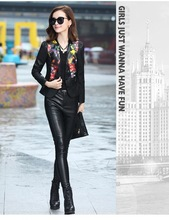 women jacket women Spring and autumn new women's coat printed Slim sheep leather