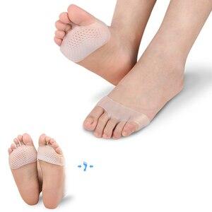 Image 2 - Almofada macia de silicone sapatos salto alto deslizamento resistente proteger alívio da dor pé ferramenta cuidado antepé palmilhas gel invisível hallux valgus