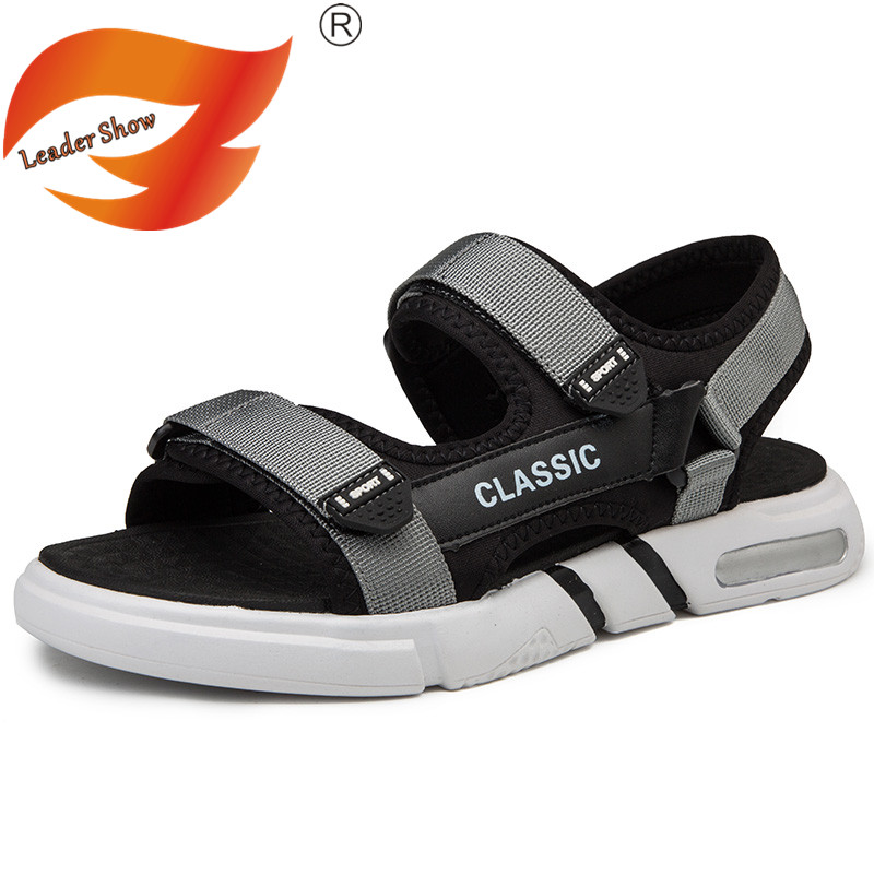Men/'s Leather Shoes Casual Sandals Beach Gladiator Flat Flips Summer Slippers