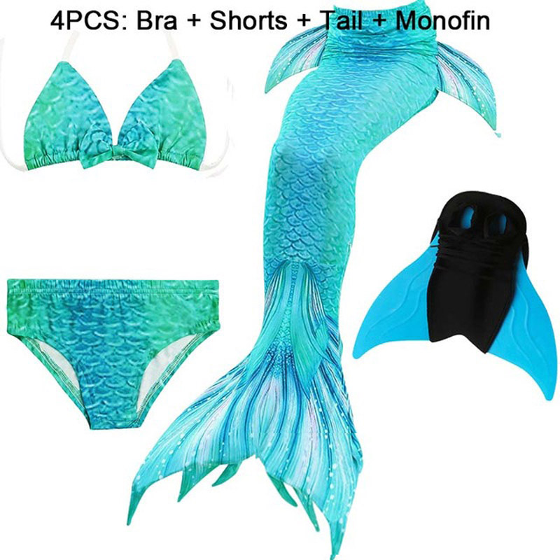2019 Girls Bathing Suit Swimming Mermaid Tails Costume Cosplay Little Children Mermaid Tail Kids Swimwear Swimsuit With/no Fin Lights & Lighting