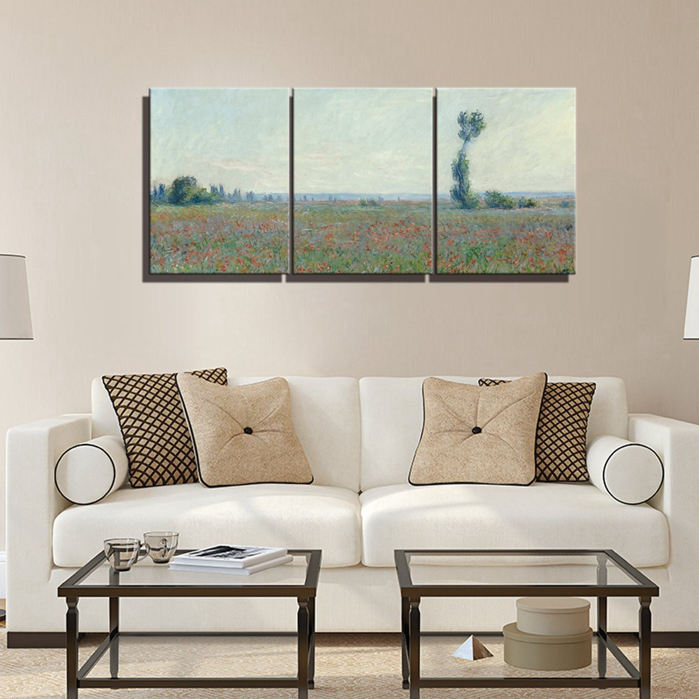 Field Claude Monet Canvas Wall Art Oil Painting Prints Decor Giclee Work For Home Office Living Room Decoration