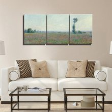 Field Claude Monet Canvas Wall Art Oil Painting Canvas Prints Wall Decor Giclee Art Work For Home Office Living Room Decoration claude monet oil painting print on canvas a man was painting on a boat wall art for office living room decoration artwork gift