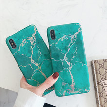 Special Green Marble mobile phone funda cover For Apple iPhone X XS MAX 8 plus 7 6s XR Cases