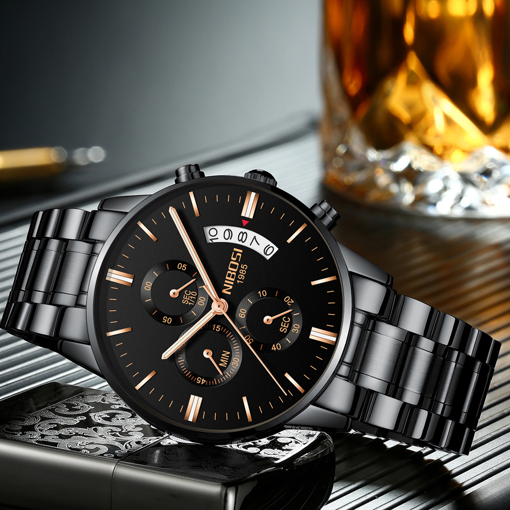 NIBOSI Heren Horloges Top Brand Luxe Militray Sport Quartz Horloge Mannen Waterdichte Man Sport Klok Horloges Relogio Masculino