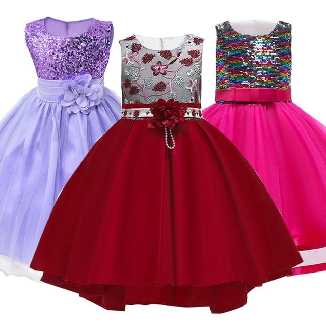 519074861 2019 الصيف الفتيات اللباس الزفاف الأميرة اللباس توتو اللباس فستان الزفاف زي الاطفال  فساتين للبنات الملابس