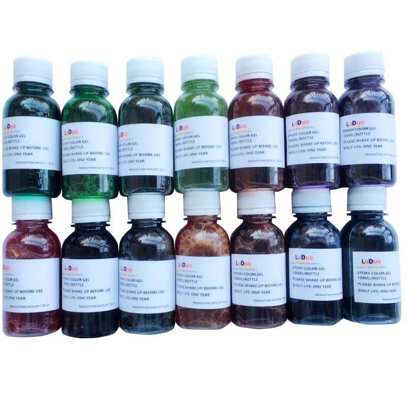 DIY Epoxy Dyestuff Resin 14 bottle/lot Color Glitter AB Gel Colorant Pigments Making Mould Glue Handcraft AB Resin Material diy epoxy resin molds necessary jewelry making tool kit with scale resin ab glue free shipping