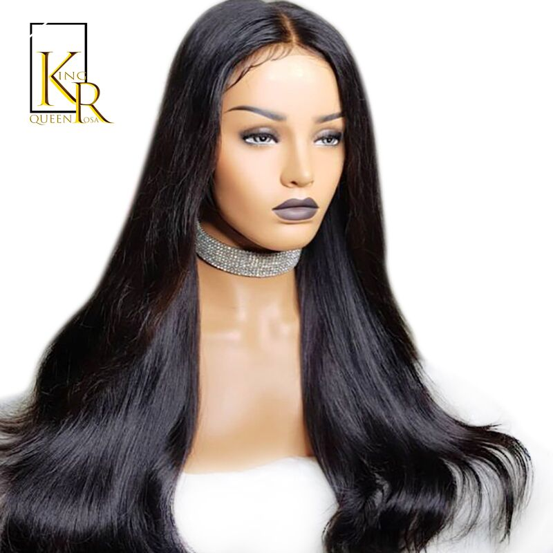 Straight Lace Front Human Hair Wigs 13X6 Lace 180% Density Brazilian Pre Plucked Bleached Knots Lace Front Wig Remy Hair VSBOB